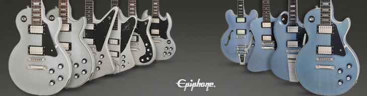 See all Epiphone Limited Edition TV Silver and TV Pelham Blue instruments