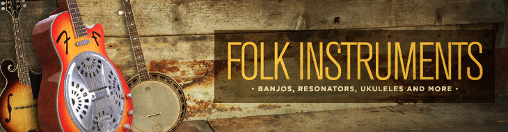 Banjos, resonators, ukuleles, and more