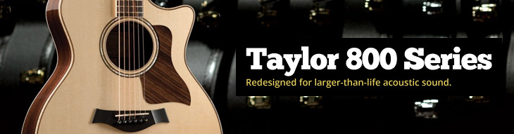 Taylor 800 Series: Redesigned for larger-than-life acoustic sound.