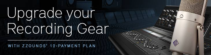 12 Payments, 0 Interest on Select Neumann, PreSonus, Mackie, and more.