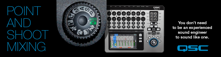 QSC TouchMix digital mixers