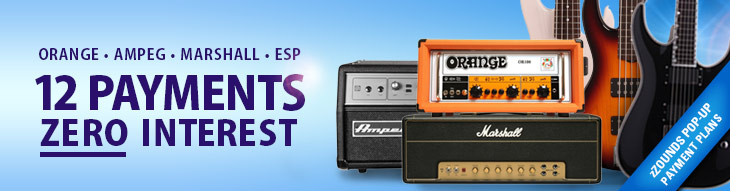 12 Payments, 0 Interest on Select Orange, ESP, Marshall and Ampeg!
