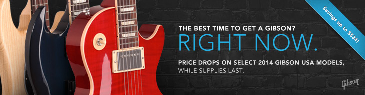 Save up to $534 on select Gibson models of all stripes!