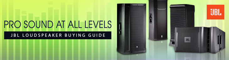 Find a set of JBL speakers, subwoofers, and accessories to complete your rig.