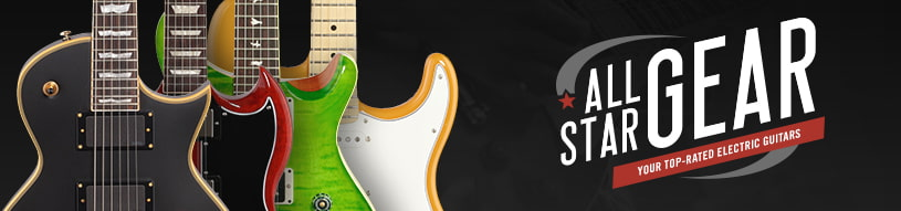 All-Star Gear: guitars from Fender, Epiphone, Schecter, Ibanez and more!