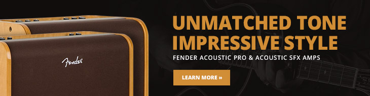 Fill the stage with transparent acoustic tone with these acoustic amps from Fender