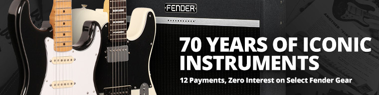 12 Payments, Zero Interest on Select Fender Gear