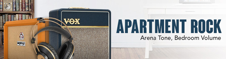 Apartment-friendly gear from Orange, Vox, Fender, Line 6, Shure and more!