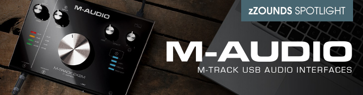 M-Audio M-Track 2X2, M-Track 2X2M and M-Track Hub USB audio interfaces