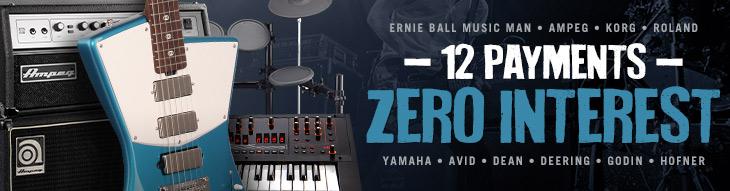 Pop-up Payment Plan for Ernie Ball Music Man, Ampeg, Korg, Roland, Yamaha, Avid & More