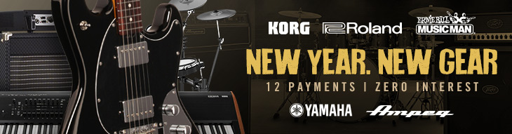 Pop-up Payment Plan for Korg, Roland, Yamaha, Ernie Ball Music Man and Ampeg