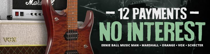 Pop-up Payment Plan for Ernie Ball Music Man, Marshall, Orange, Schecter, and Vox