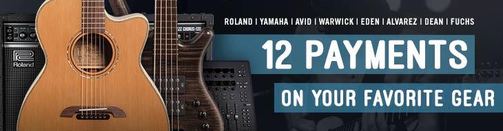 Pop-up Payment Plan for Roland, Yamaha, Avid, Warwick, Alvarez and more!