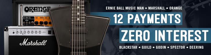 Pop-up Payment Plan for Ernie Ball Music Man, Marshall, Orange, Blackstar, Guild and More!