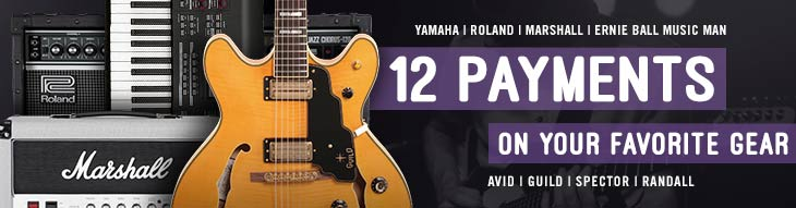 Pop-up Payment Plan for Yamaha, Roland, Marshall, Avid, and more!