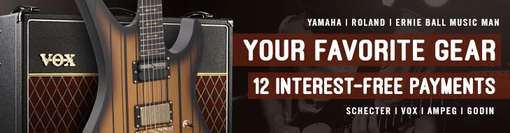 Pop-up Payment Plans: Yamaha, Roland, Ernie Ball Music Man, and more!
