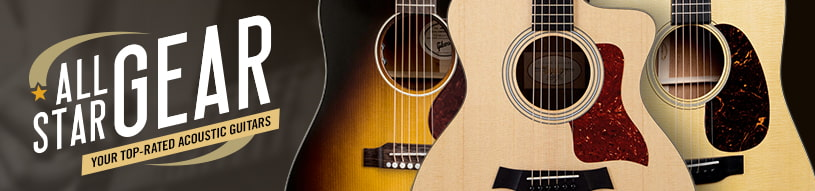 All-Star Gear: Acoustic Guitars from Martin, Taylor & More!