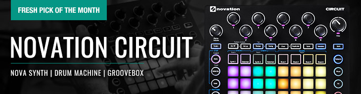 Novation Circuit: An all-in-one standalone grid-based groovebox