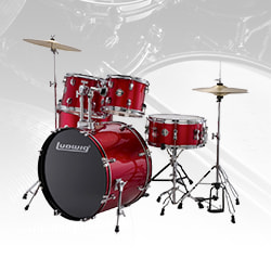 Ludwig LC175 Accent Drive Complete Drum Kit, 5-Piece