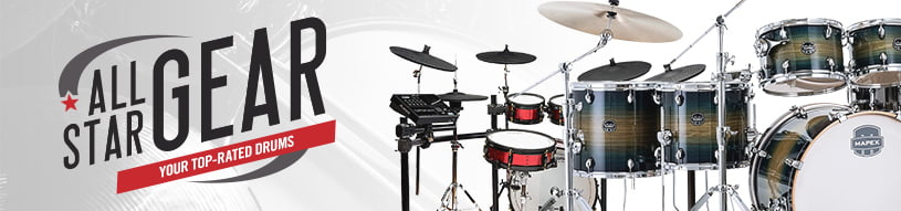 Our customers' favorite drum gear from Pearl, Gretsch, Roland, Ludwig, Mapex, PDP and more!