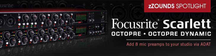 Focusrite Scarlett OctoPre and OctoPre Dynamic Mic Preamps