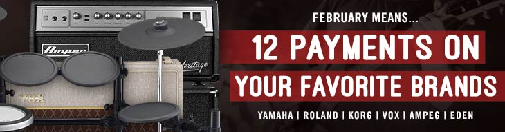 Pop-up Payment Plans: Yamaha, Roland, Korg, Vox, Ampeg, and more!