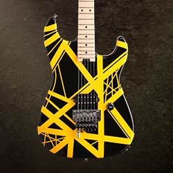 EVH Striped Series Electric Guitar, Black and Yellow